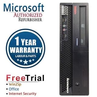 Refurbished Lenovo ThinkCentre M58P SFF Intel Core 2 Duo E8400 3.0G 4G DDR3 160G DVD Win 10 Pro 1 Year Warranty - Black