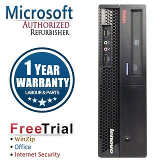 Refurbished Lenovo ThinkCentre M58P SFF Intel Core 2 Duo E8400 3.0G 8G DDR3 1TB DVD Win 7 Pro 1 Year Warranty - Black