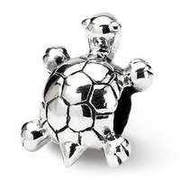 Sterling Silver Reflections Kids Turtle Bead (4mm Diameter Hole)