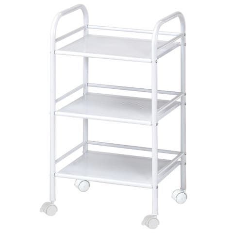 Alvin sh3wh storage cart 3-shelf white