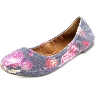 Lucky Brand Emmie Women Round Toe Suede Multi Color Ballet Flats