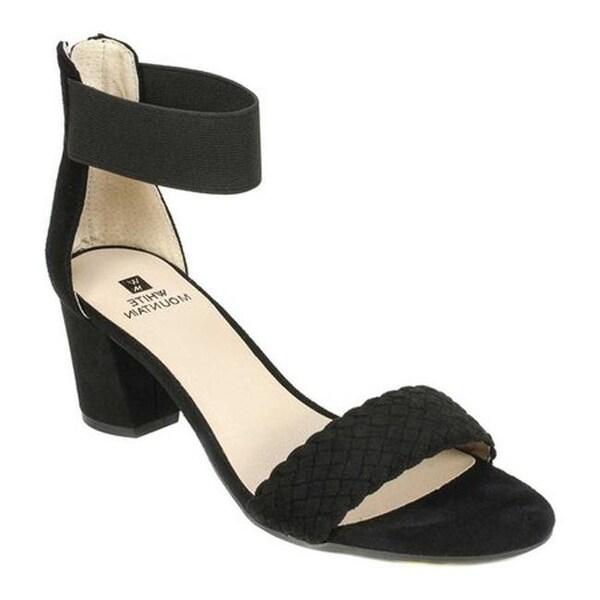 6c762a7485fc Shop White Mountain Women s Eryn Ankle Strap Sandal Black Suedette ...