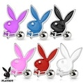 Playboy Bunny 316L Surgical Steel Cartilage/Tragus Barbell (Sold Individually) - Thumbnail 0