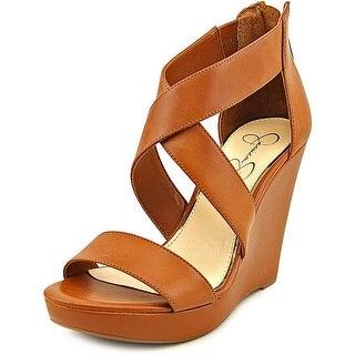 Jessica Simpson Jinxxi Open Toe Synthetic Wedge Sandal