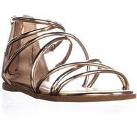 MG35 Westley Strappy Gladiator Sandals, Rose Gold