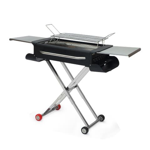 Large Stainless Steel Portable Outdoor Barbecue Grill