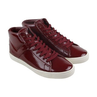 Pony Topstar Hi Mens Red Patent Leather High Top Sneakers Shoes