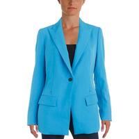 Anne Klein Womens One-Button Blazer Long Sleeves Peak-Collar