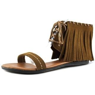 Minnetonka Havana Women  Open Toe Leather Brown Sandals