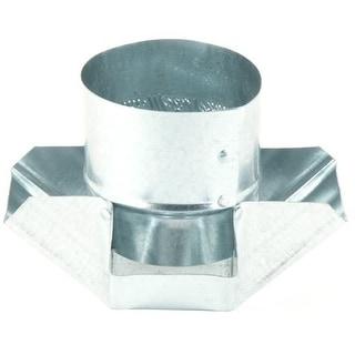 "Gray Metals 5-327 Galvanized Shanty Cap, 5"""
