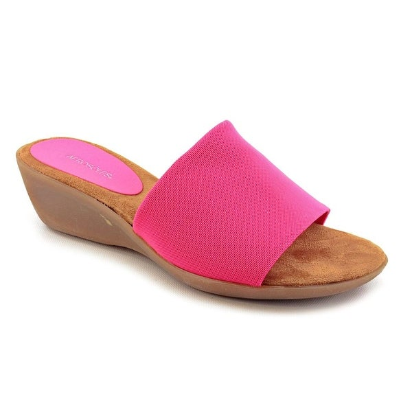 Aerosoles Badminton Women W Open Toe Synthetic Pink Slides Sandal
