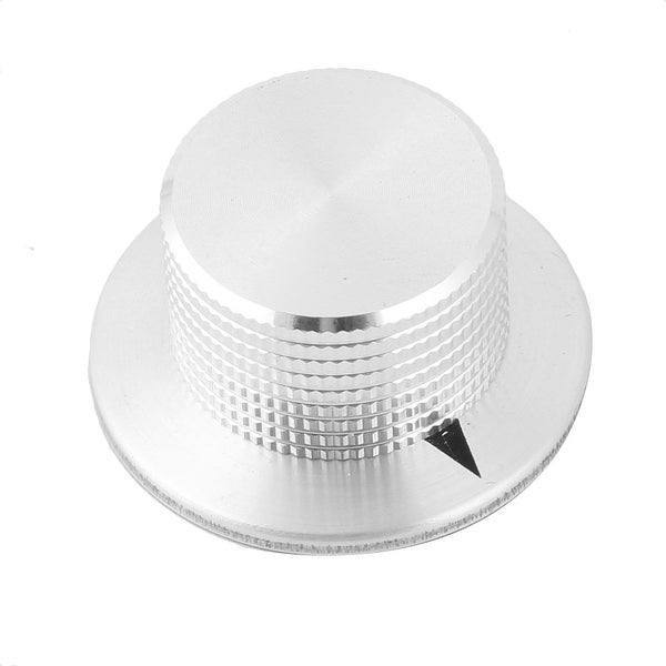 37mm CNC Machined Aluminum Alloy Volume Control Potentiometer Knob 6mm Hole Dia