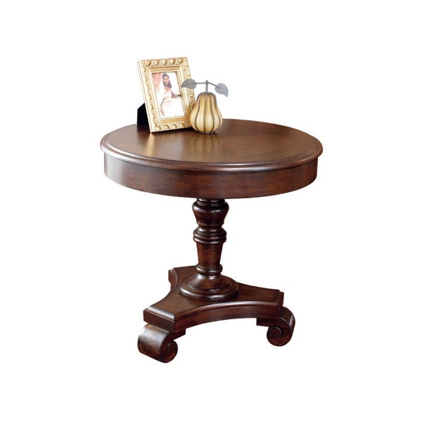 Ashley Brookfield Round Coffee Table In Dark Brown: Shop Ashley T496-6 Brookfield Dark Brown Round End Table W