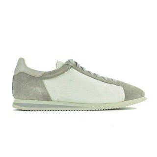 Brunello Cucinelli Grey Suede Mesh Lace Up Sneakers
