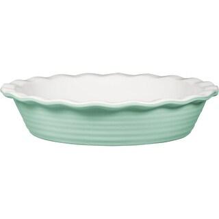 "Palais Dinnerware 'Tarte' Collection, Ceramic Pie Dish - 10"" Diameter (Mint Green)"