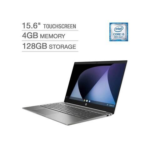 "Refurbished HP 15-de0035cl Chromebook Intel Core i3-8130U 4GB 128GB eMMC 15.6"" Touchscreen"