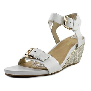David Tate Touch   Open Toe Leather  Wedge Sandal
