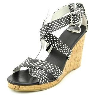 Cole Haan Jillian Wedge Open Toe Leather Wedge Heel