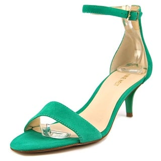 Nine West Leisa Women Open Toe Leather Green Sandals