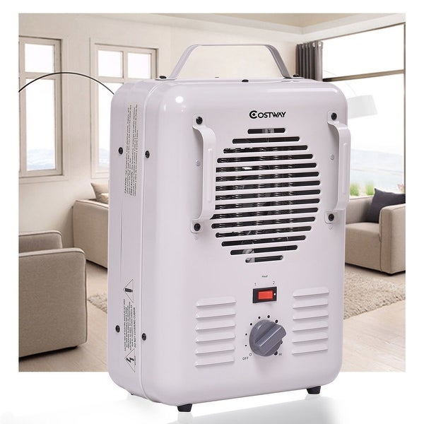 2a738359a49 Costway Electric Portable Utility Space Heater Thermostat Room 1500W Air  Heating Wall - White