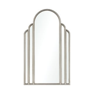 """Link to 25.75"""" Silver Arch-Shaped Wall Mirror Art Deco Similar Items in Decorative Accessories"""