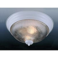 "Volume Lighting V7711 1 Light 11"" Flush Mount Ceiling Fixture with Clear Swirl R - White"