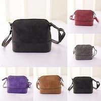 Women Faux Leather Satchel Handbag Shoulder Tote Messenger Crossbody Shell Bag