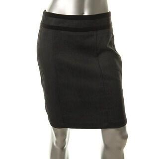 BCX Womens Juniors Pindot Seamed Pencil Skirt - 11