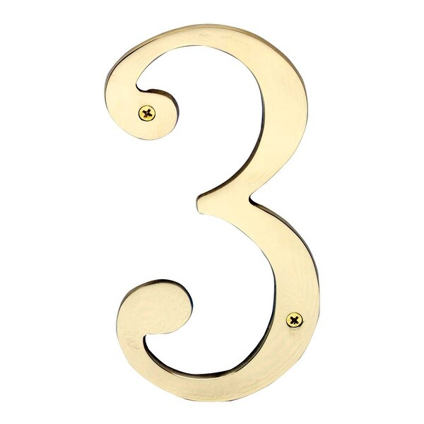 Cast Solid Brass 8 Address House Number '3' | Renovator's Supply