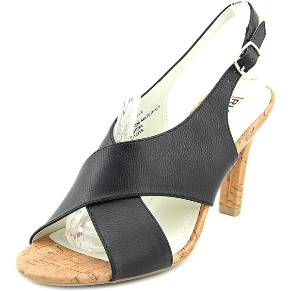 Rialto Roselle Women Open Toe Synthetic Black Sandals
