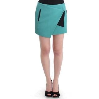 Costume National Costume National Blue wrap mini skirt