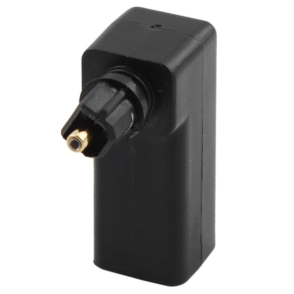 Optical Cable Male to Female 90 Degree Fiber Optic Audio Converter Adapter