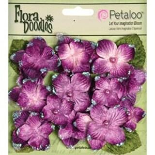 "Plum - Flora Doodles Velvet Hydrangeas 1"" To 1.5"" 22/Pkg"