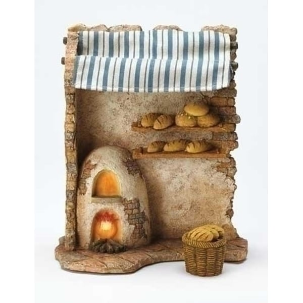 "Fontanini 7.5"" Religious Christmas Nativity Lighted Bakery Shop 2-Piece Set #50845"