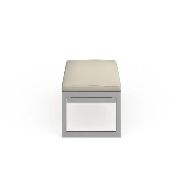Safavieh Home Collection Kittson Modern Glam Cream Bench