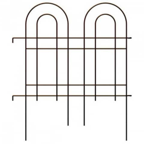 """PanaceaA¢ 87675 Homeland Double Arch Fence, Oil Rubbed Bronze, 36"""" x 42"""""""