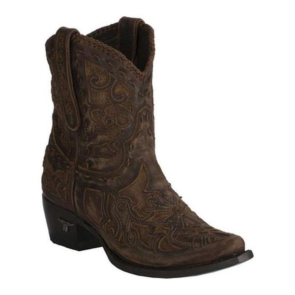 0a462fd7853 Lane Boots Women's Robin Bootie Brown Full Grain Leather