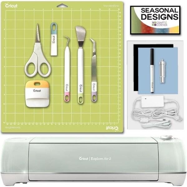 shop cricut explore air 2 machine mint bundle with tool kit rh overstock com