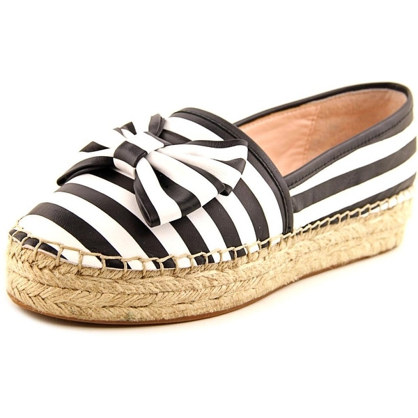 Kate Spade Linds Women Round Toe Leather Black Espadrille