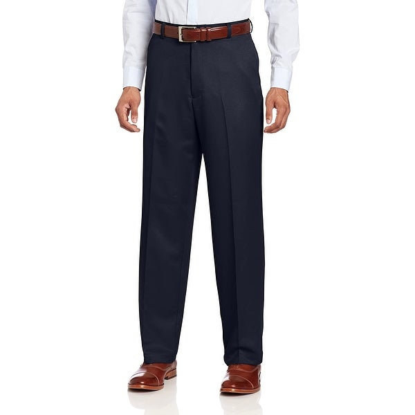 IZOD Mens Pants Navy Blue Size 42x30 Performance Classic Flat Front. Opens flyout.