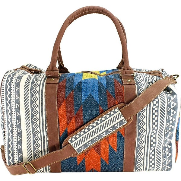 Shop Tigerbear Republik Zebra Women Canvas Blue Duffel Bag