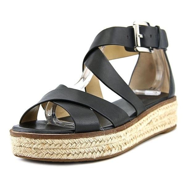 Michael Michael Kors Darby Sandal Open Toe Leather Platform Sandal