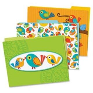 Carson-Dellosa Publishing Boho Birds File Folders Set, 6 Per Pack