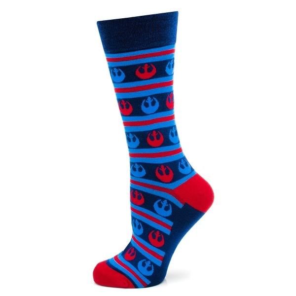 Star Wars Rebel Alliance Blue / Red Striped Dress Socks