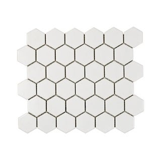 "Miseno MT-UT10012HEXMS1P Metropolitan Porcelain Mosaics - 2"" X 2"" - Hexagon Mosaic Wall Tile (Sold by Sheet)"