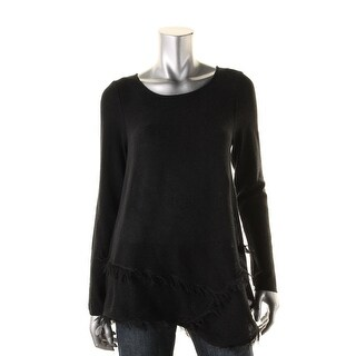 Grace Elements Womens Pullover Sweater Asymmetrical Textured