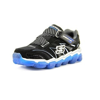 Skechers Boys Skech Air Youth Round Toe Synthetic Black Sneakers