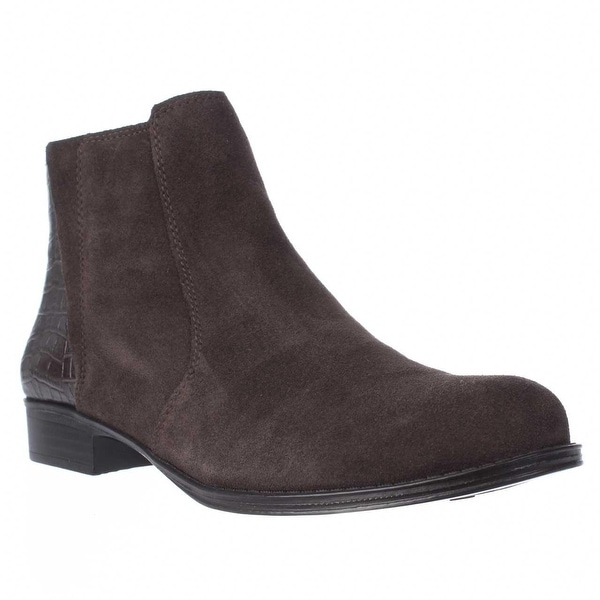 naturalizer Jump Side Zip Ankle Boots, Brown Suede