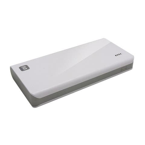 Monoprice Select Plus USB Power Bank, White, 16,000mAh, 2-Port Up to 2A Output for iPhone, Android, and Galaxy Devices