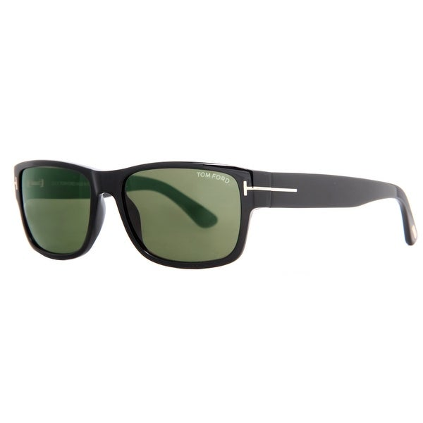 Tom Ford Mason TF 445 01N Shiny Black/Green Men's Sunglasses - Shiny Black - 58mm-17mm-140mm